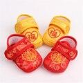 2016 Nueva Llegada de La Manera Zapatos de Bebé Niñas de Algodón Antideslizante Toddlers Infantil Niños Niños Flor Linda Ocio Zapatos Primeros Caminante