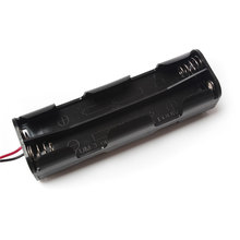 20Pcs/Lot 8*AA Long Battery Holder Back to Back Battery Box With Wire Thick Lead Battery Holder Box Battery Case
