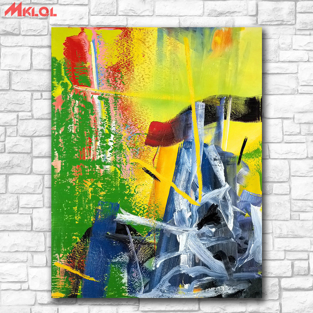 Free Shipping Prints Wall Art Gerhard Richter Korn Painting Living ...