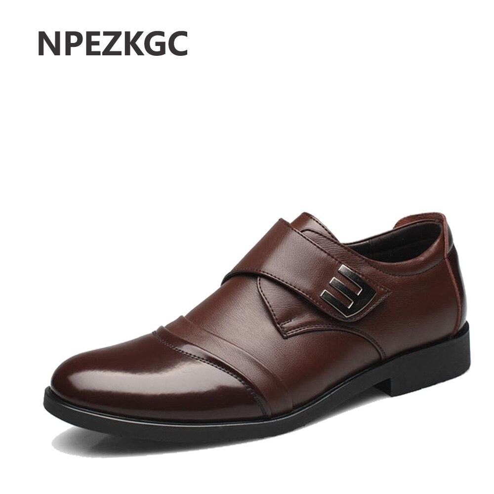 NPEZKGC ホット販売本革黒茶色の男性フラットシューズ、ハンドミシン男性オックスフォード Zapatos Hombres 、トレンディ男性革の靴  グループ上の 靴 からの オックスフォード の中 1