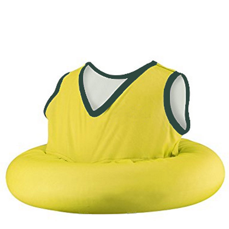 Kids Inflatable Innertube With Soft Fabric Vest Swim
