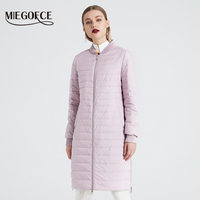 MIEGOFCE 2019 New Women's Spring Coat With a Scarf Women's Jacket Women Stand Collar Thin Section Cotton Clothing Designer New