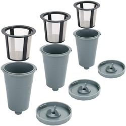 Filtr wielokrotnego użytku  filtry do kawy wielokrotnego użytku K kubki do Keurig nadające się do B30 B40 B50 B60 B70 serii  łatwy w użyciu wielokrotnego napełniania pojedyncze Cu w Filtry do kawy od Dom i ogród na
