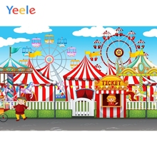 Yeele Circus Ferris Wheel Children Birthday Party Photography Backdrops Baby Carnival Photographic Backgrounds for Photo Studio