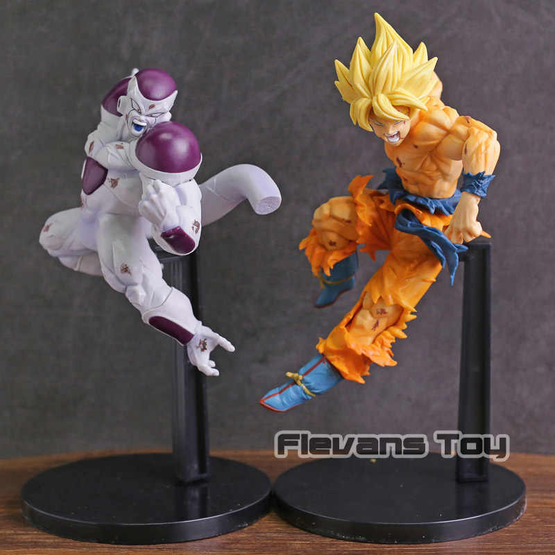 Dragon Ball Z Jogo Fabricantes VS Super Saiyan Goku Freeza PVC Boneca Figura Collectible Toy Modelo
