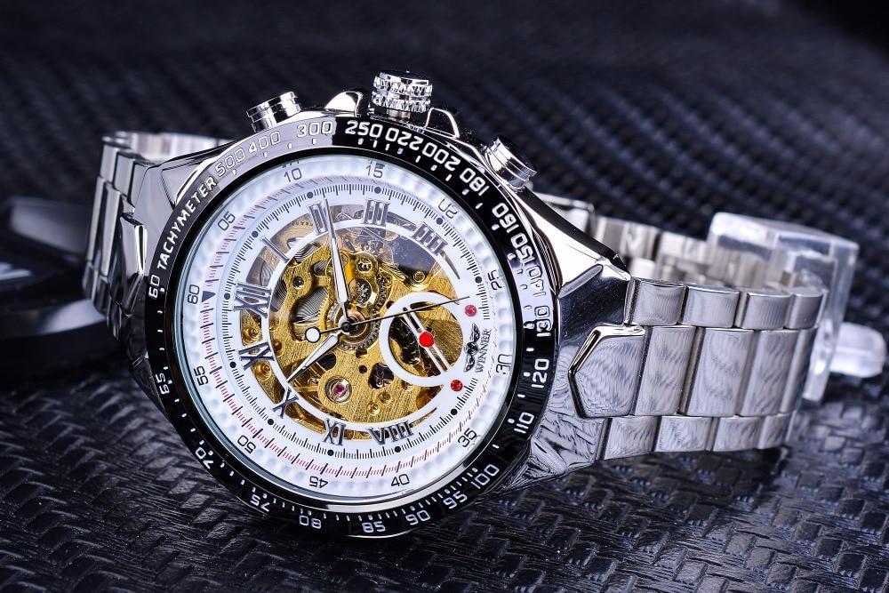 HTB1dBo4m0cnBKNjSZR0q6AFqFXa9 Winner Classic Series Golden Movement Steel Mens Skeleton Man Wrist Watch Mechanical Top Brand Luxury Fashion Automatic Watches