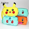 Monsters Pikachu Charmander Squirtle Bulbasaur Plush Makeup Bag Wallet Soft Stuffed Animal Dolls for Female Kids' Toy AP0254