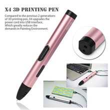 2017 New High quality Intelligent 3D Drawing Pen Supermery 3D Printing Pen with Safety Holder As Gift For Kids Drawing UK Plug