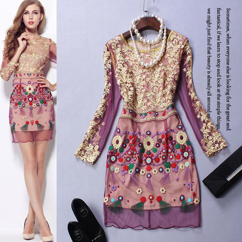 aliexpress : buy high quality new fashion 2015 autumn mesh dress party ...