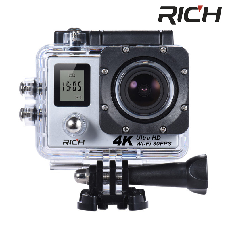 10pcs/lot 4K Wifi Action Camera SJ8000R 4K/30fps 1080P/60fps 720P/120fps 2.0 170D Helmet Cam Mini Camera Waterproof Camera