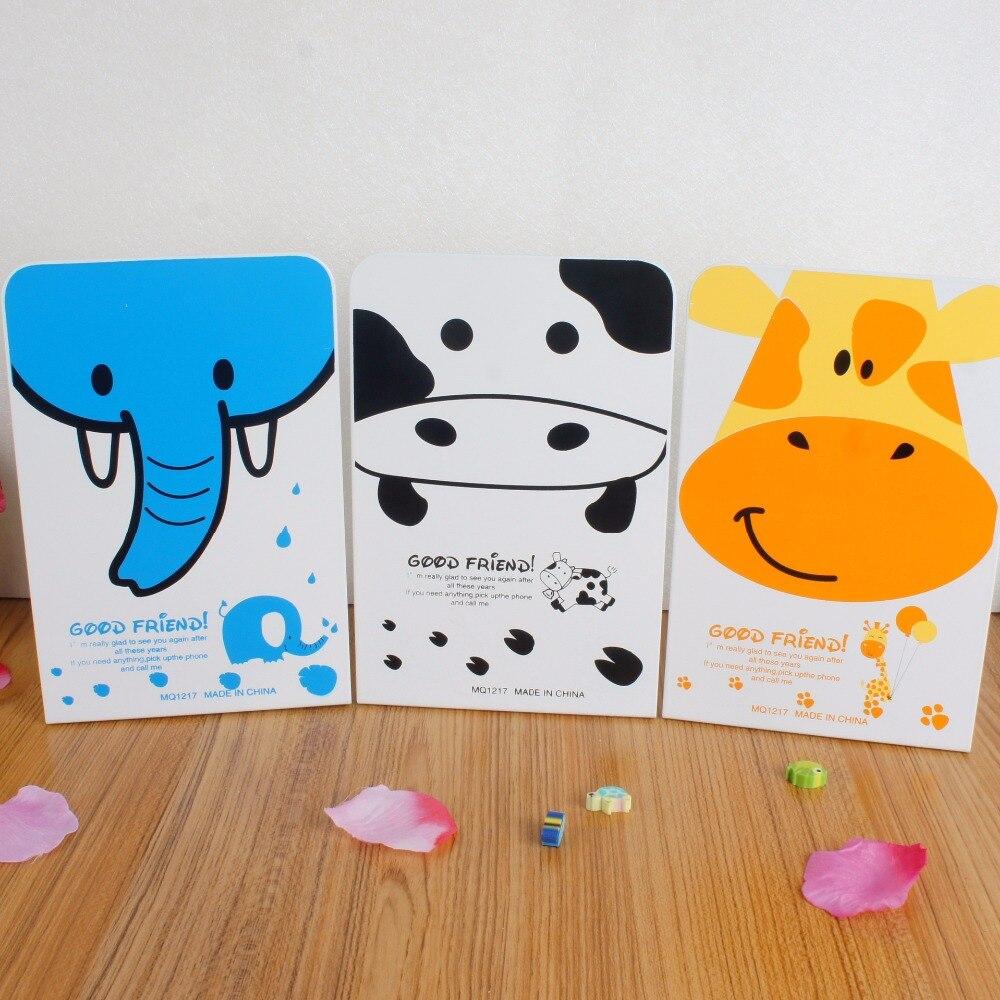 2 шт./пара корейский мода металлический Подставки для книг гладить милые животные книга Поддержка держатель книги для чтения настольная эта...