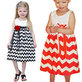 BS#S 2016 Summer New Floral Baby Girl Dress Princess A-Line New Children Clothing Striped Dress Infant Dresses