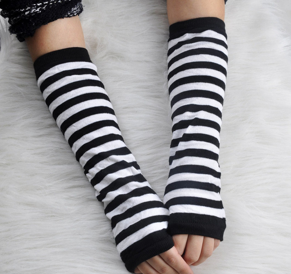 Arm-Warmer Fingerless-Gloves Mittens Long-Girl Autumn Women Fashion Spring 15