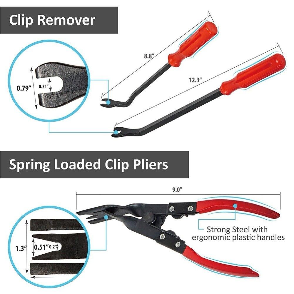 Image 3 - Car Installer Cover Pry Repair Tools Plastic Fastener Screwdriver Car Clip Pliers Door Panel Trim Fastener Tools-in Auto Fastener & Clip from Automobiles & Motorcycles