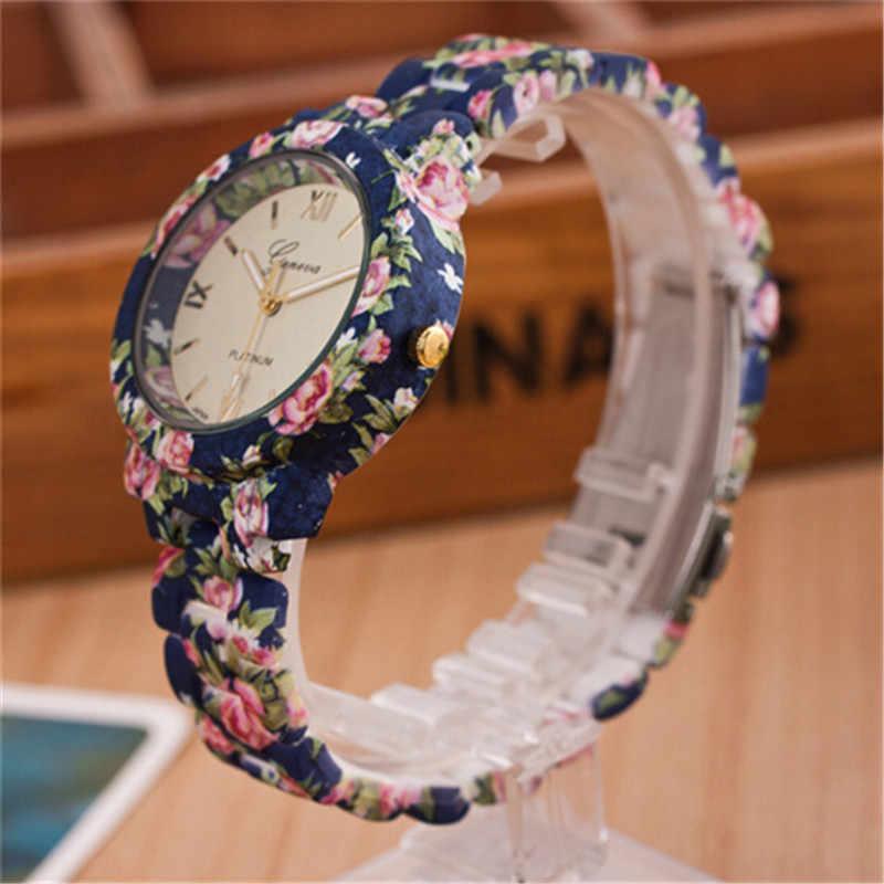 2018 אופנה עלה עץ שעון נבה מודפס סגסוגת שעונים גברים של שעונים חדש ססגוניות באיכות יצירתי שעונים