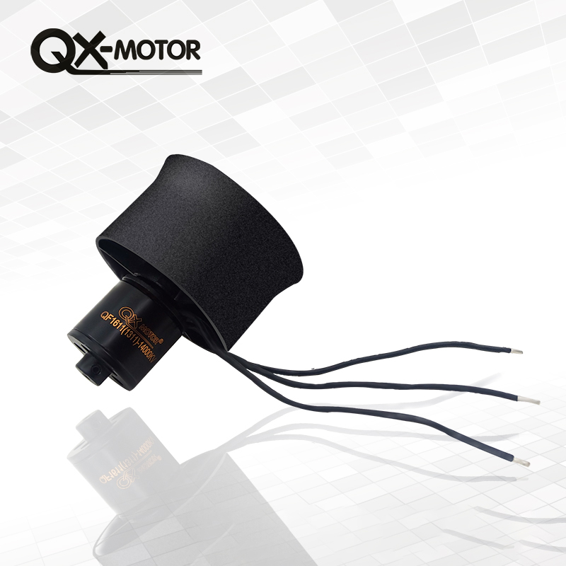 купить QX-Motor 30mm 6 Blades Electronic Ducted Fan EDF QF1611 14000KV Brushless Motor For RC Airplanes DIY Drone Parts по цене 1240.33 рублей