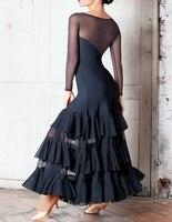 ballroom dress women waltz dance costumes foxtrot flamengo costumes flamenco dress girls spanish dress spain kids clothes black