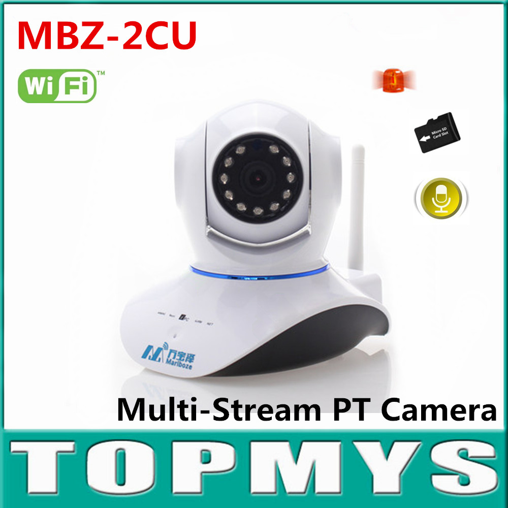 цены Marlboze Wireless Alarm IP Camera IR day night vision P2P indoor Alarm CCTV camera Mini PT Camera built in TF slot 720P ip Cam