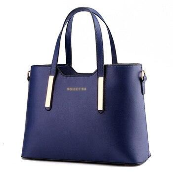 197c81268e Moda elegante bolso de hombro de cuero de mujer de diseñador de la marca de  lujo bolsos de las señoras de dulce mensajero bolso para las mujeres