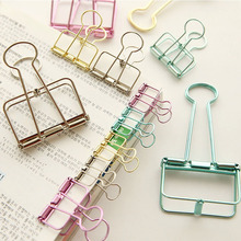 hot deal buy cute kawaii solid color metal binder paper clips for message photo file ticket letter office school supplies stationery student