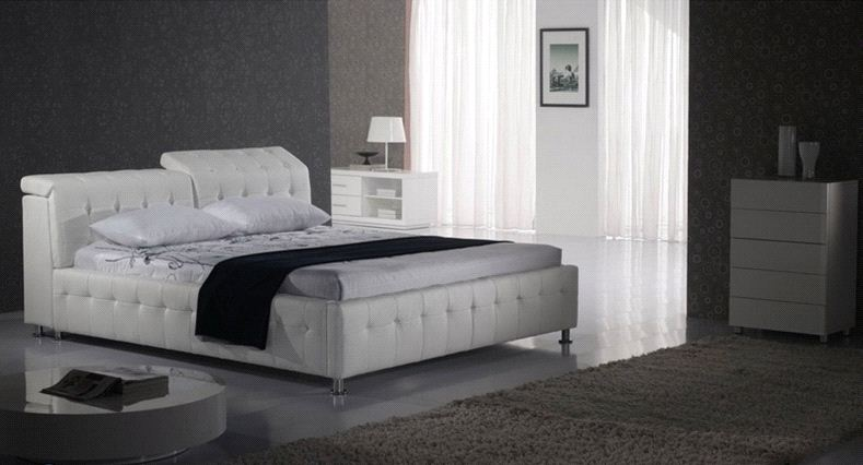 diamond tufted contemporary modern leather bed King size bedroom furniture Made in China diamond tufted french contemporary modern leather sleeping bed king size bedroom furniture made in china