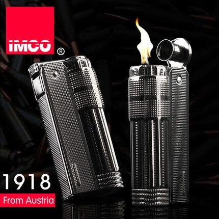 US $9 9 |Genuine Austria IMCO brand steel oil lighter Black kerosene  lighter,retro Gasoline lighter 6600-in Cigarette Accessories from Home &  Garden
