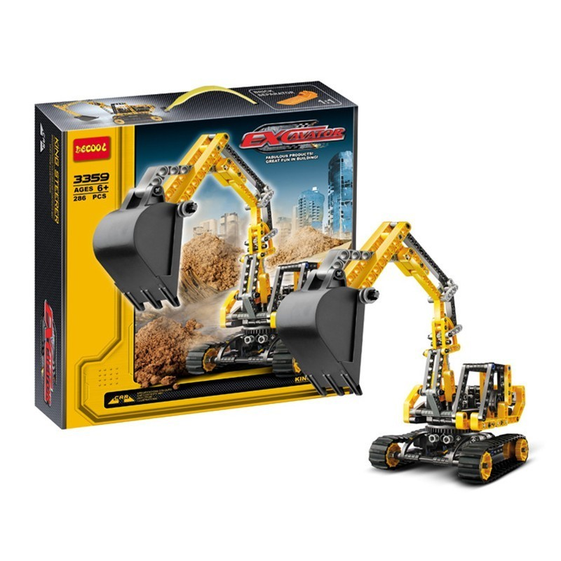 3359 286pcs Technic City Series Excavator Building Blocks Bricks Classic Toys Xmas Birthday Gift for Kids Compatible with Legoe mylb new city fire station 774pcs set building blocks diy educational bricks kids toys compatible with legoe best kids xmas gift