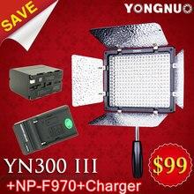 Yongnuo YN 300 III 5500 K CRI95 llevó la luz de vídeo w NP-F970 batería y cargador DSLR cámara , fotografía , foto Studio iluminación de la lámpara