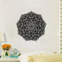 ZOOYOO Indian Pattern Wall Decals Art Vinyl Bedroom Studio Interior Decorative Wall Sticker Mandala Flower Murals zooyoo believer home decor wall stickers indian mandala pattern vinyl art wall decals murals bedroom