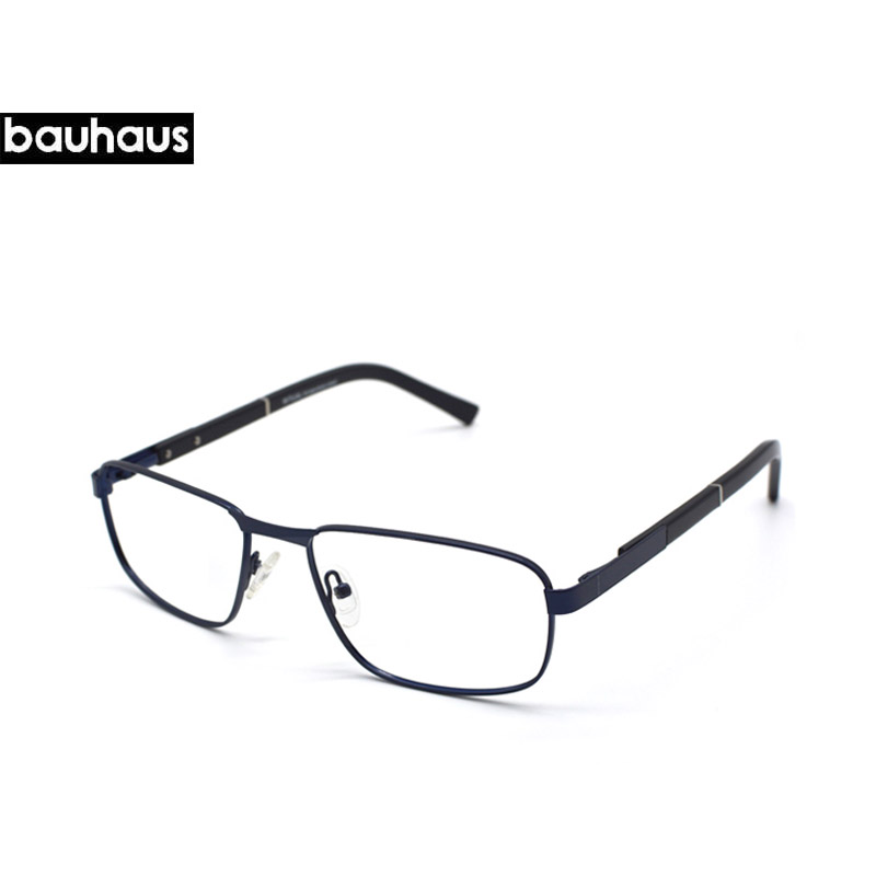 f09c38c508 bauhaus Vintage Brand Designer Clear Lens Classic Unisex High Quality  Reading Glasses Men Women Optical Metal Frame Eyeglasses-in Eyewear Frames  from ...