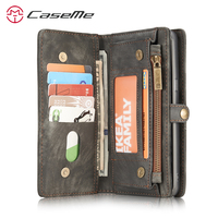 For Samsung Galaxy S8 Wallet Case Cover Multi Function Card Holder Zipper Magnetic Leather Flip Case