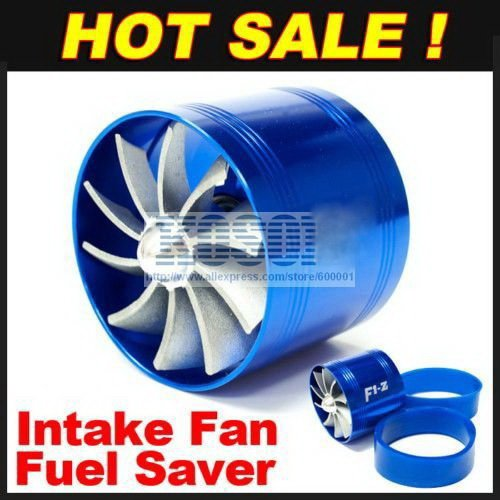 Brand New Supercharger F1 Z Air Intake Tornado Turbo Dual Fan Gas Fuel Saver Fan With Double