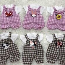 T02-X639 Best children gift 1/8 bjd dolls Accessories handmade clothes Plaid sus