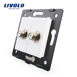 Livolo EU Standard  Socket  Accessory For  DIY Products,The Base of Socket Double SATV  Plug Socket VL-C7-2ST-11 (4 Colors)