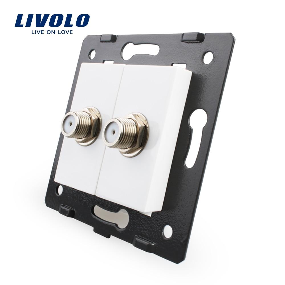 Livolo EU accessoire de prise Standard pour les produits de bricolage, la Base de prise Double SATV prise de courant VL-C7-2ST-11 (4 couleurs)