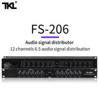TKL FS206 Professional equipment Stereo Mono Audio Signal Splitter Amplifier Distributor 2 in 10 out XLR for stage