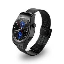 696 2017X10 Fullly tHeart Suppors Arredondado Relógio Inteligente Monitor De Freqüência Cardíaca Do Bluetooth 4.0 Couro Real Smartwatch Suporta Arábica