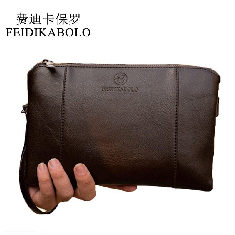 FEIDIKABO Luxus Brieftaschen Handliche Taschen Männlichen Leder Geldbeutel männer Kupplung Schwarz Braun Business Carteras Mujer Brieftaschen Männer Dollar Preis