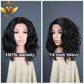 synthetic lace front wig bob with baby hair wavy natural cheap hair wig synthetic lace front wig heat resistant for black women
