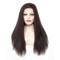 Элегантный Муз 24 дюймов длиной странный прямые волосы Синтетические волосы на кружеве парик коричневый жаропрочных #4 цвета синтетические
