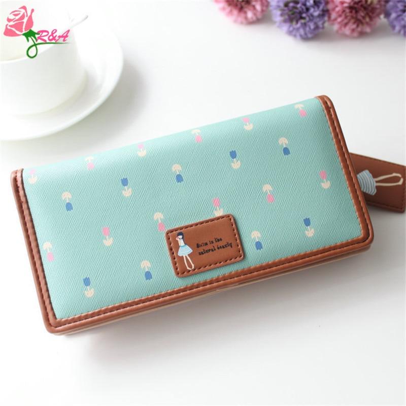 Free Shipping New Fashion Leather Bag Handbag Cartoon Clutch Wallets Women Wallet Coin Purse Long Zipper Pockets Female Purse  цена и фото