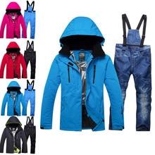 Новинка, для влюбленных, для мужчин и женщин, ветрозащитный, водонепроницаемый, тепловой Мужской нагрудник снег, брюки, наборы, для катания на лыжах и сноуборде, лыжный костюм, мужские куртки