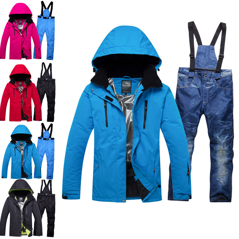 2018 NEW Lover Men And Women Windproof Waterproof Thermal Male Snow bib Pants sets Skiing And Snowboarding Ski Suit men Jackets new hot ski suit men winter new outdoor windproof waterproof thermal male snow pants sets skiing and snowboarding ski jacket men