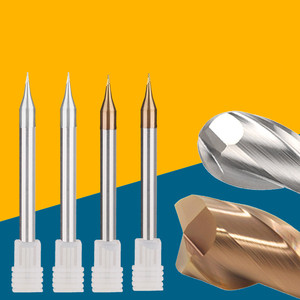 Image 2 - 5pcs/set 55HRC 60HRC 0.2/0.4/0.5/0.6/0.8/0.9mm 2 Flute CNC end mill Extended Reach TiCN Coated Solid Carbide End Mill Tools