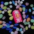 MIX2 50 ШТ. Круглый Падение Овальной Формы Цвета Смешивания Опал 3D Кристалл Камень Украшения Искусства Ногтя