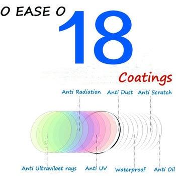 1.74 Ultrathin Single Vision Optical Lenses With Full UV Protection Anti-Reflection Coating 2 pcs Prescription Eyeglasses Lens