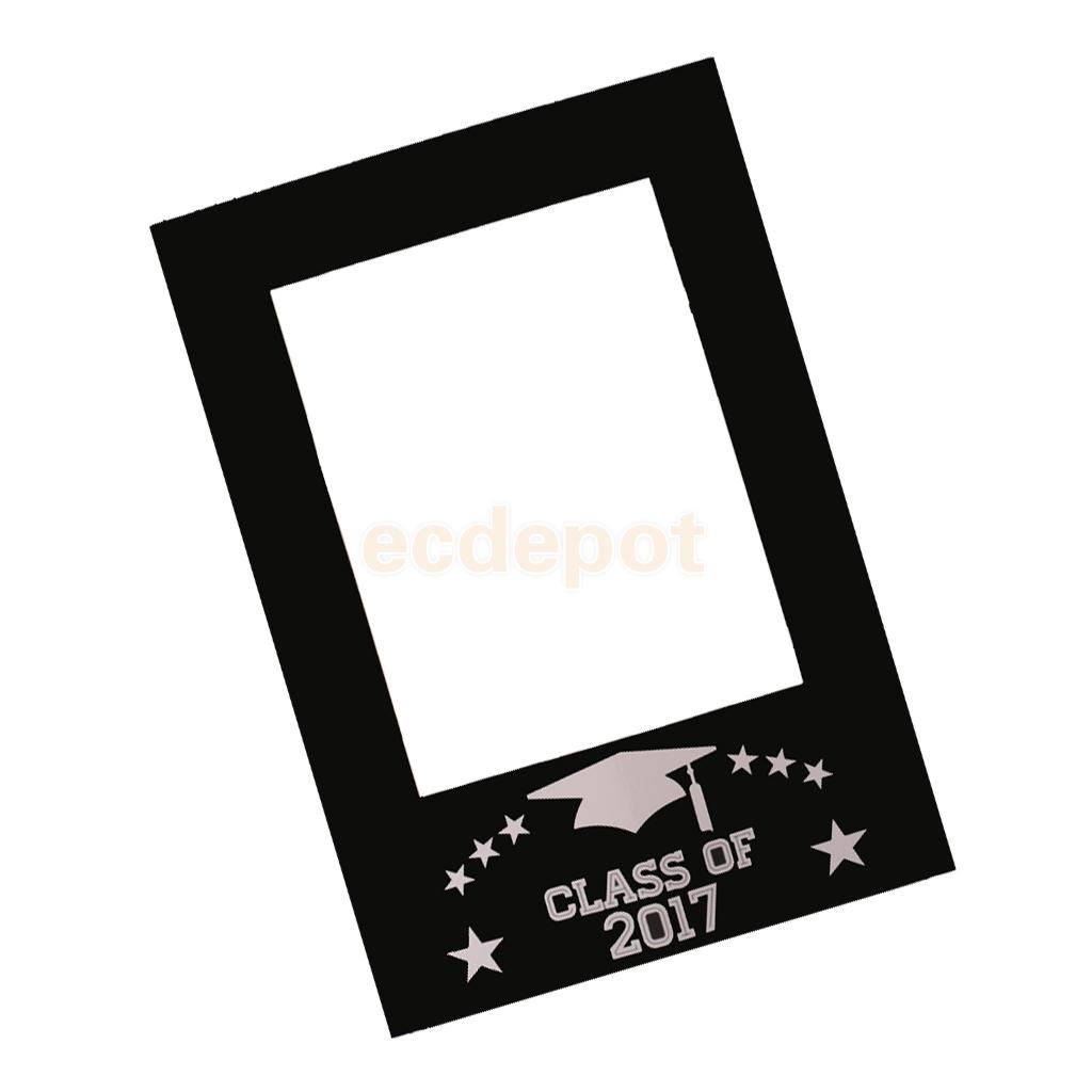 Class of 2017 DIY Chalkboard Selfie Frame Photo Booth Prop ...