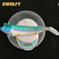 Swolfy 1pc 440g/26cm Lead Head Soft Fishing Lure Deep Sea Big Bait Fishing Tackle