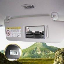Зеркало для салона автомобиля с клейкой задней поверхностью из нержавеющей стали с козырьком декоративные косметические зеркала для макияжа