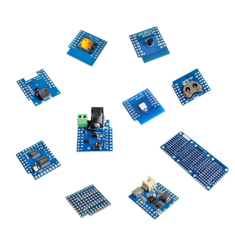 ESP8266 D1 ミニプロ wifi nodemcu データロガーシールド DS1307 バッテリー 0.66 oled dc 電源ブザー V1.0.0 デュアル用 wemos diy キット